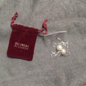 Helzberg Diamonds freshwater pearl earrings.
